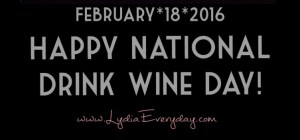 Happy National Wine Day