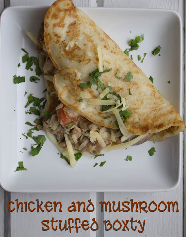 Chicken and Mushroom Stuffed Boxty ~ Lydia's Flexitarian Kitchen