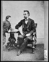 Lincoln and his son Tad