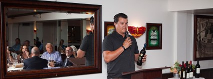 Dominick Galleano, son of Don Galleano, owner of local Mira Loma Galleano Winery.