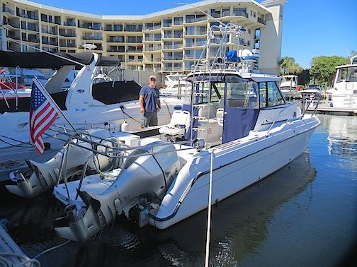 LyonsRoar at Delray Harbor Club Marina's floating dock