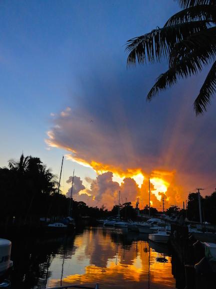 Sunset a L Dock 5
