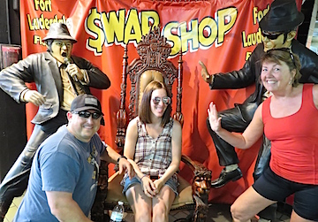 A little vamping with the Blues Brothers at the Swap Shop.