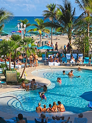 Margaritaville pool Hollywood.