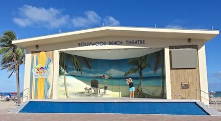 Karen on stage in Hollywood, FL