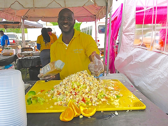 Good conch salad is hard to come by outside the Bahamas. This guy knew what he was doing.