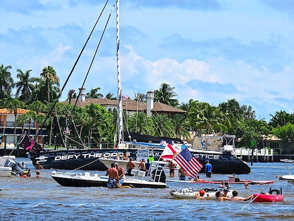 So, pay attention to markers, know what they mean and if you see a dog standing on the bottom, it's way to shallow for a deep keel sailboat. Nothing like getting stuck at a busy intersection with hundreds of party boaters looking on and giving advice to  create an indelible memory of the challenge at hand.