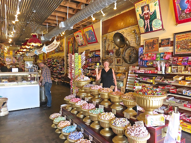 If you shop with Karen, passing a candy store is not going to happen. Big Top Candy Shop was a sweet lover's dream come true.