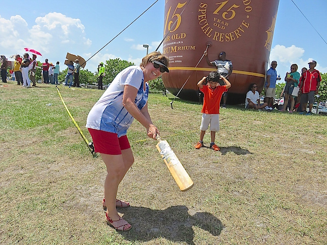 This kid tried to teach Karen how to properly hold a cricket bat, but he also gave up in dismay. I can now say I attended an very important cricket match and probably won't ever try and top it.