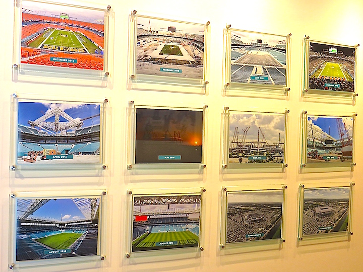 The pictures of Hard Rock Stadiums changes over the years illustrate the vast improvements.