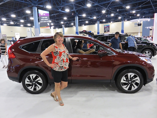 I get the feeling her practical side will win out and she'll end up with another SUV. She looked might comfortable behind the wheel of the new Honda CRV.