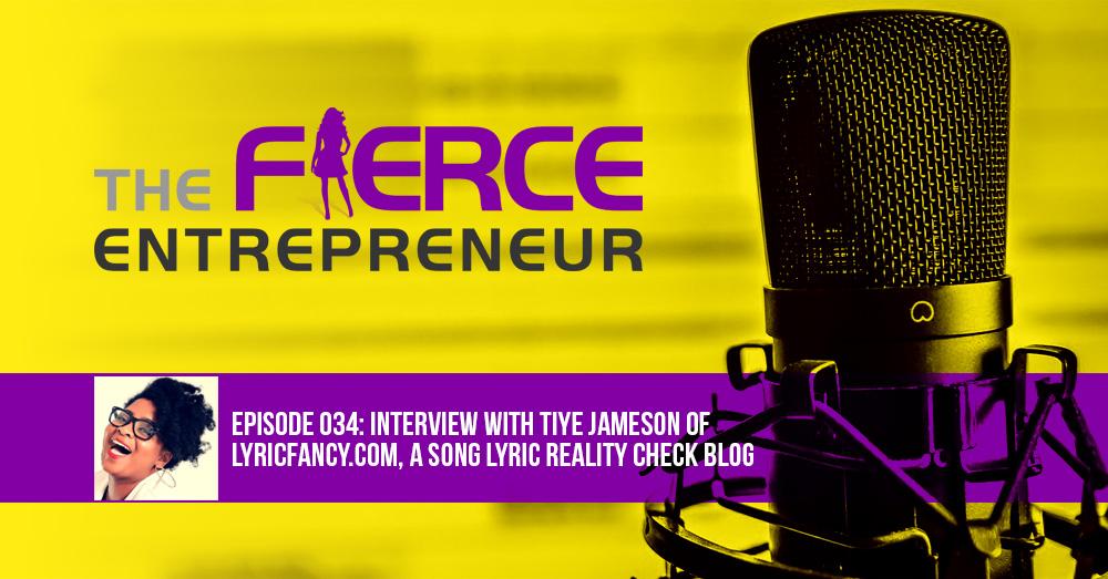 The Fierce Entrepreneur lyricfancy podcast image