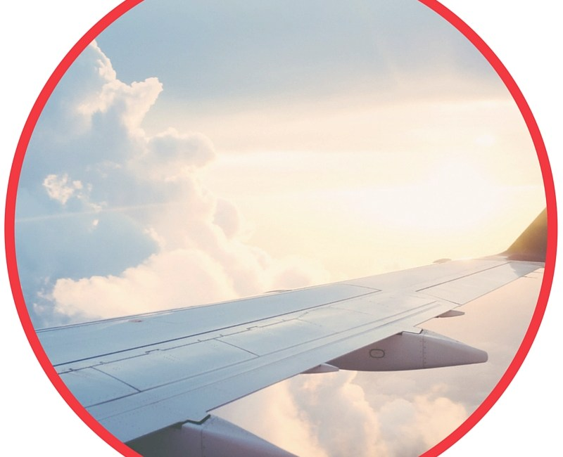plane in circle