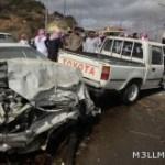 مصرع 3 طلاب وإصابة 2 في حادث مروري شنيع بالباحة