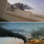 حريق كبير في متوسطة بنات في بقيق