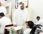 متابعة مدير تعليم جدة للاختبارات بمطلع الاسبوع الثاني