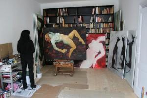 Maartje Seyferth in her studio