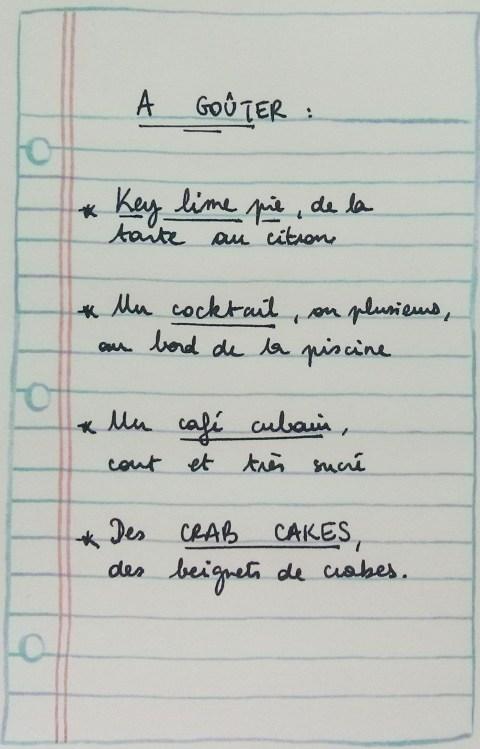 listes des bonnes choses à gouter en floride - Key lime pie, cocktails, café cubain et crab cakes