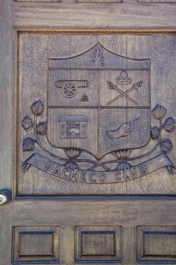 Vieille porte en bois à Monterey Californie
