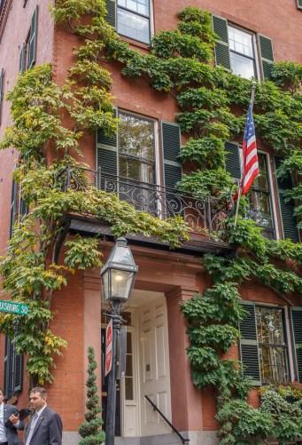 Fall Boston Beacon Hill drapeau américain