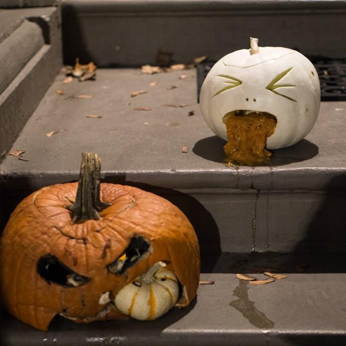 citrouilles qui vomissent halloween back bay boston