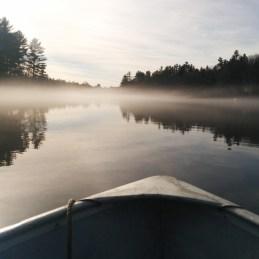 Maine Noel lac brume