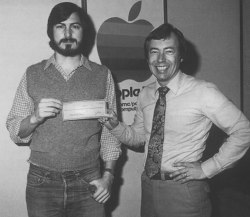 Steve Jobs and Mike Markkula