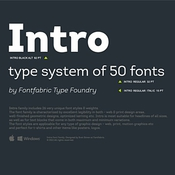 Intro by Fontfabric icon