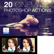 Creativemarket 20 Cinematic Photoshop Actions Pack 139287 icon