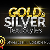 Creativemarket 50 Gold and Silver Text Styles 46314 icon