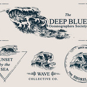 Creativemarket Wave Drawings and Logo Templates 86046 icon
