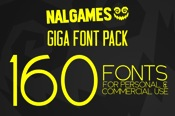 NAL Giga Font Pack 160 Fonts icon