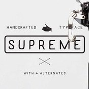 Creativemarket Supreme Handcrafted Typeface 283988 icon