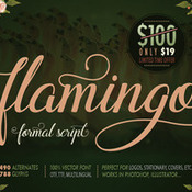 Creativemarket Flamingo formal script 336471 icon
