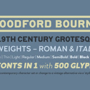Creativemarket Woodford Bourne Vintage Grotesque 331568 icon