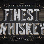 Another whiskey label font 405610 icon