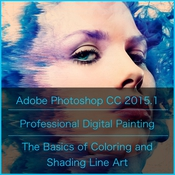 Adobe photoshop and tutorials professional digital painting basics of coloring and shading logo icon