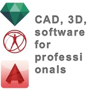 Cad 3d software for professionals icon
