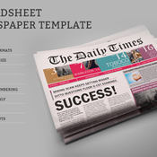 Dailytimes newspaper template icon