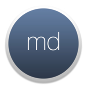 Md markdown writing app icon