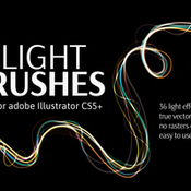 Vector light effect brush sets icon