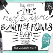 Creative market big bunch of fonts volume 1 516617 icon