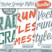 Grunge text styles bundle 7199311 icon