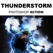 Thunderstorm photoshop action 11805124 icon