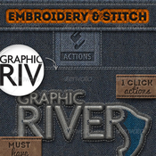 Embroidery and stitching photoshop creation kit 6990240 icon