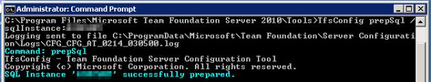 3 Prepare SQL Server for TFS