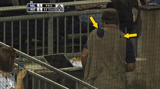 PowerBook hit by baseball