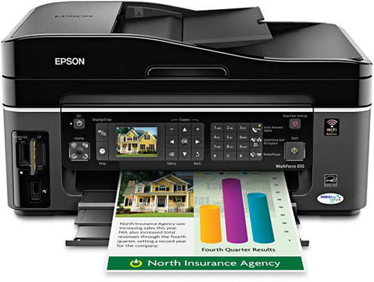 epson workforce 610 printer