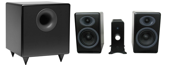 Review Audioengine N22 Amp P4 Speakers And S8 Subwoofer Big Sound Small Footprint No Dock Required