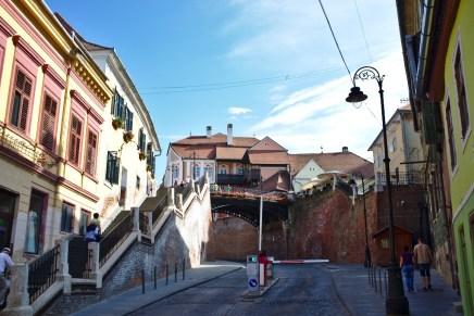 Sibiu: Die Lügenbrücke in der Altstadt